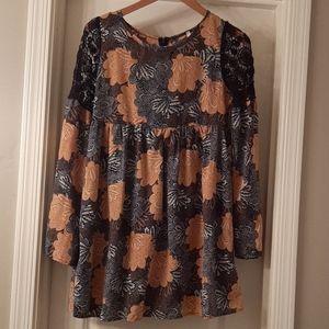 Sage babydoll dress